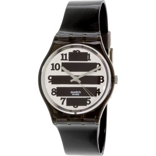 Swatch Women's Originals GM164 Black Rubber Swiss Quartz Watch