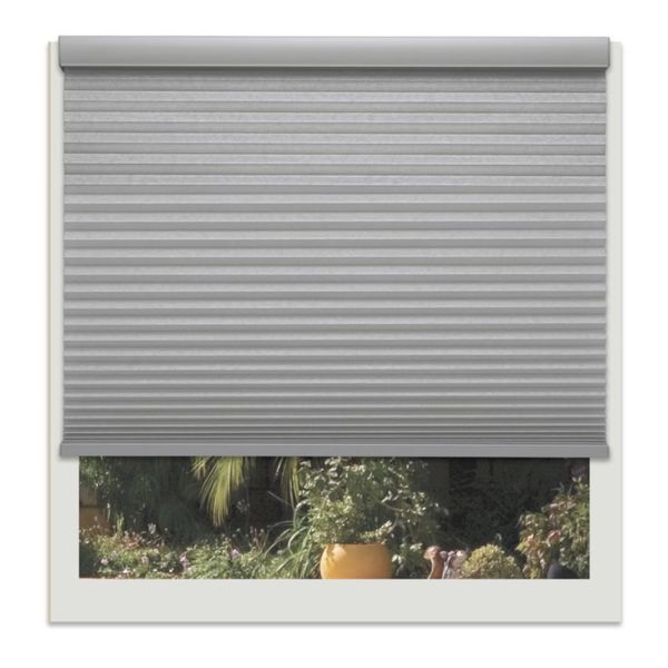 Linen Avenue Custom Cordless 60- to 61-inch Wide Platinum Light-filtering Cellular Shade