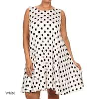 Women's Plus Size Polka Dot Tank Top Dress