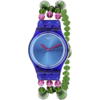 Swatch Women's Originals Blue Plastic Swiss Quartz Watch