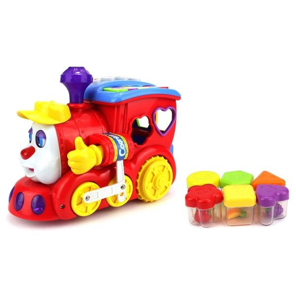 Velocity Toys Kid's Red Miracle Bubble Battery-operated Bump and Go Toy Train