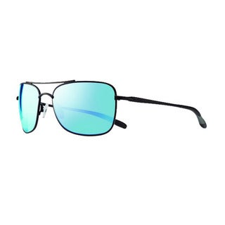 Revo Men's RE 1034 01 BL Territory Sunglasses with Black Frames and Blue Water Serilium Lenses