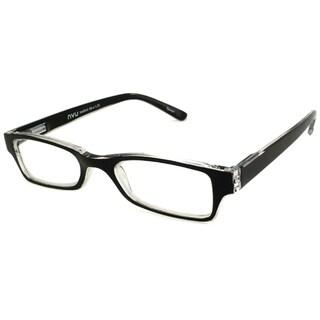 Nvu Eyewear Black & Clear Reading Glasses