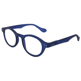 Computereyed Round Blue Reading Glasses