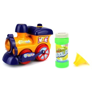 Velocity Toys Funny Cartoon Battery-operated Bubble-blowing Train