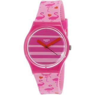 Swatch Women's Originals GP144 Pink Silicone Swiss Quartz Watch|https://ak1.ostkcdn.com/images/products/12484392/P19295069.jpg?impolicy=medium