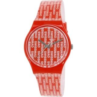 Swatch Women's Originals GR143 Red Plastic Swiss Quartz Watch