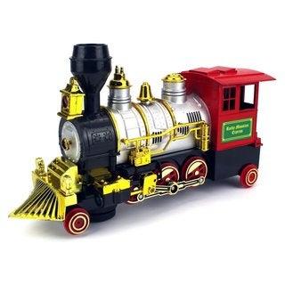 Velocity Toys Rocky Mountain Bump-and-go Toy Train - Black