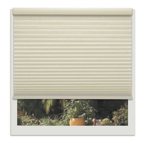 Linen Avenue Custom Cordless Muslin 22- to 23-inches Wide Light FIltering Cellular Shade