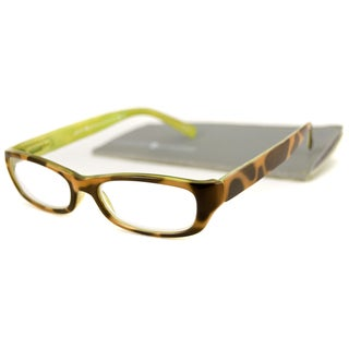 Gabriel + Simone Square Tortoise And Citron Reading Glasses