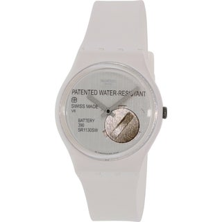 Swatch Women's Originals GW170 White Silicone Swiss Quartz Watch