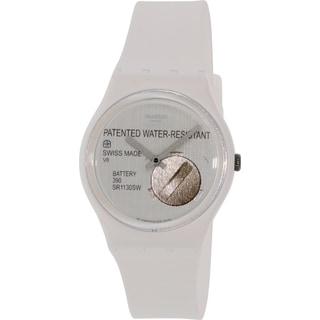 Swatch Women's Originals GW170 White Silicone Swiss Quartz Watch