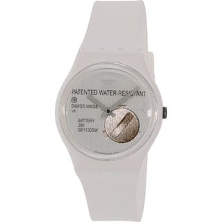 Swatch Women's Originals GW170 White Silicone Swiss Quartz Watch|https://ak1.ostkcdn.com/images/products/12484416/P19295072.jpg?impolicy=medium