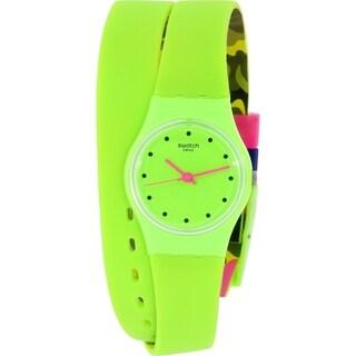 Swatch Women's Originals Green Silicone Swiss Quartz Watch