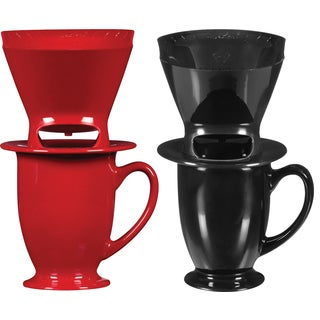 Melitta 64012 1 Cup Pour-Over Coffee Brewer With Mug