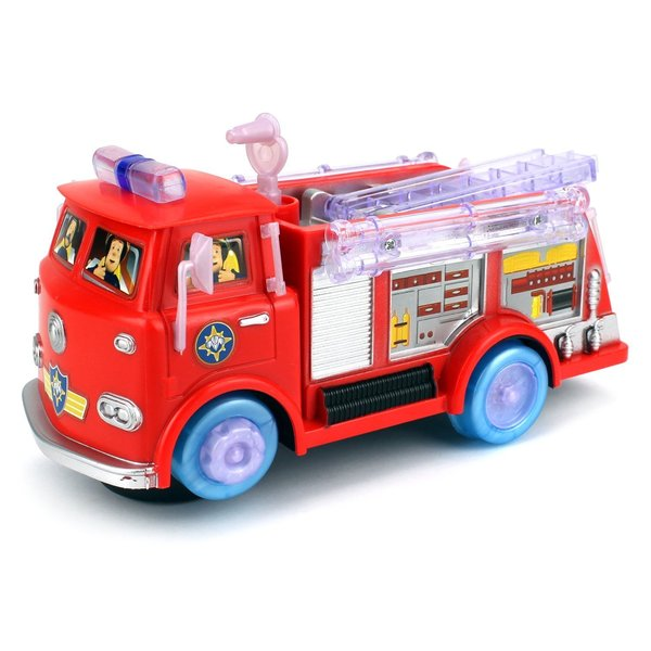 Velocity Toys Rescue City Fire Battery Operated Kids' Bump-and-Go Toy Fire Truck