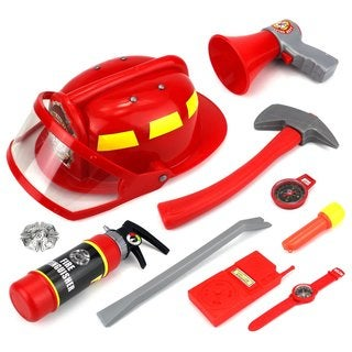 Velocity Toys 'Real Heroes' Red Plastic Firefighter Dress Up Playset