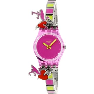 Swatch Women's Originals LP139G Pink Stainless-steel Swiss Quartz Watch