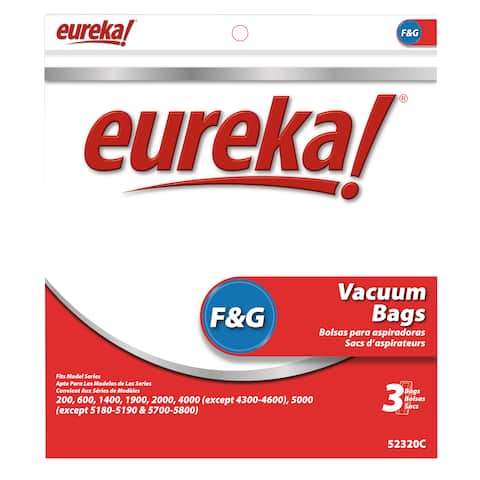 Eureka 52320C-6 Disposable Dust Bags Type F & G