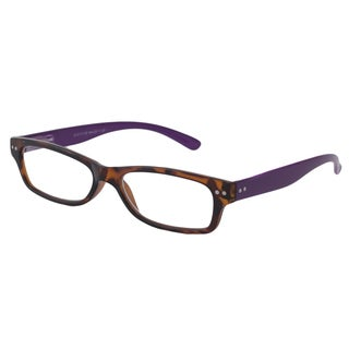Able Vision Square Tortoise + Purple Reading Glasses