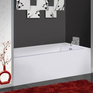 Fine Fixtures 66-inch x 32-inch x 21-inch Acrylic Apron Left-hand Soaking Bathtub