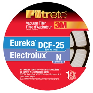 3M 67825-2 Eureka & Electrolux Filtrete DCF 25 & N Vacuum Filter