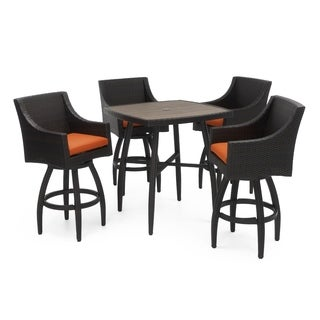 RST Brands Deco Tikka Orange 5-Piece Outdoor Bar Dinging Set