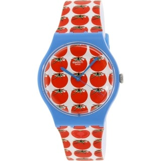 Swatch Women's Originals SUOS102 Red Silicone Swiss Quartz Watch