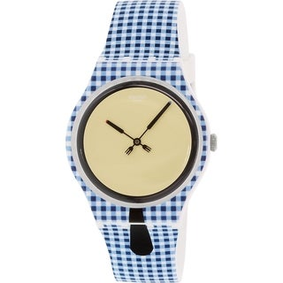 Swatch Women's Originals SUOW118 Blue Silicone Swiss Quartz Watch