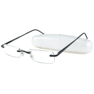 Gabriel + Simone Rimless Black Reading Glasses