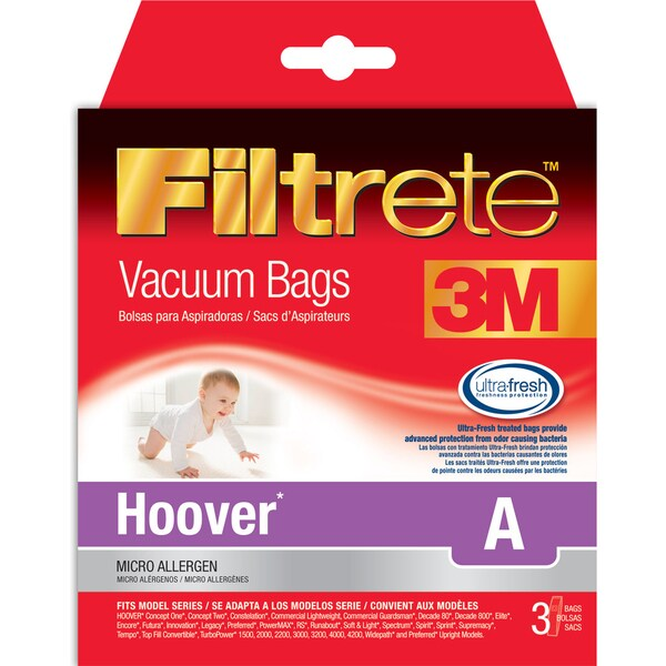 Shop 3m 64730a 6 Hoover Size A Filtrete Vacuum Bags 3 Count Free