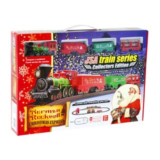 LEC Norman Rockwell Multicolored Plastic Christmas Train Set Model