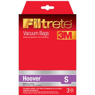 3M 64705-6 Hoover Filtrete S Allergen Vacuum Bags 3-count
