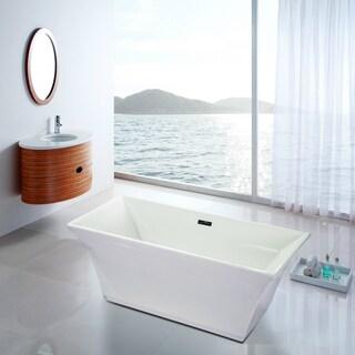Fine Fixtures White Acrylic 67-inch x 30-inch x 23-inch Free-standing Bathtub