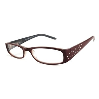 Urbanspecs Readers Burgundy With Grey Reading Glasses