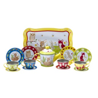 Schylling Forest Friends 15-piece Tea Time Set - Yellow