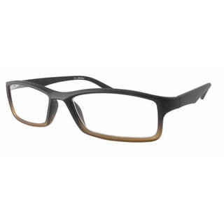 Calabria Readers Square Black Brown Fade Reading Glasses