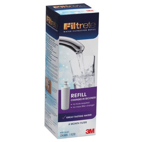 3M 3US-AF01 Advanced Faucet Water Replacement Filter Cartridge