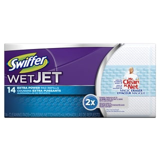 Swiffer 81790 Swiffer WetJet Refill Pads With Mr Clean Magic Eraser