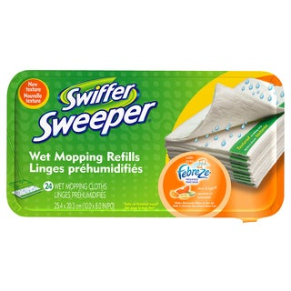 Swiffer 37688 Citrus & Light Scent Swiffer Sweeper Wet Mop Refills
