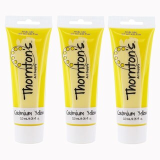 Thornton's Cadmium Yellow Acrylic Art Supply Paint Tube (4 Ounces)