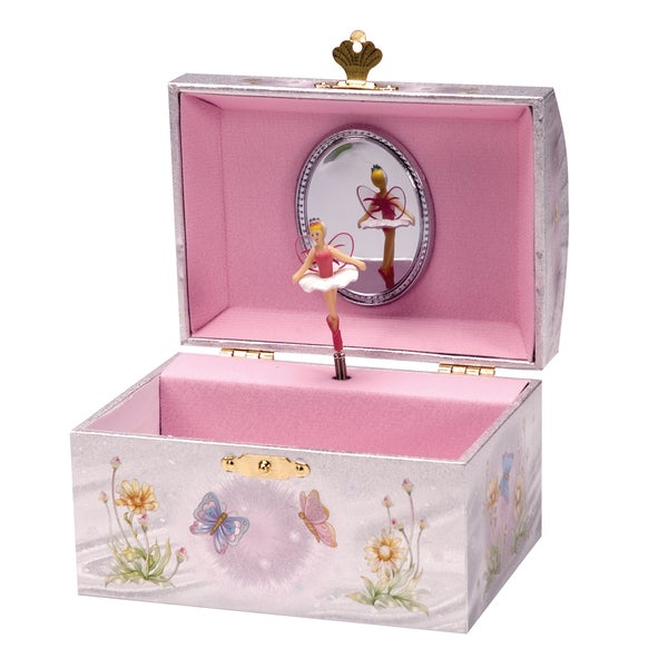 Schylling Iridescent Pink Musical Fairy Jewelry Box