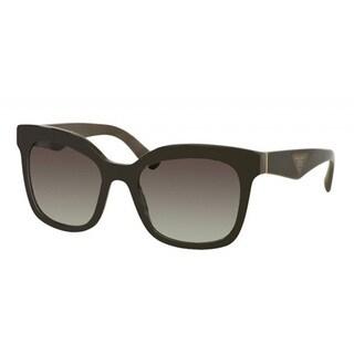 Prada PR24QS-UAM0A7 Square Light Grey / Gradient Dark Grey Sunglasses