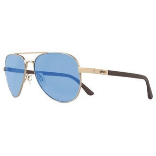 Revo Men's RE 1011 04 BL Raconteur Sunglasses with Gold Frames and Blue Water Serilium Lenses