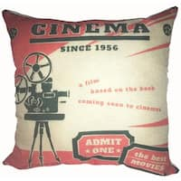 Lillowz Retro Cinema Theater 17-inch Canvas Throw Pillow