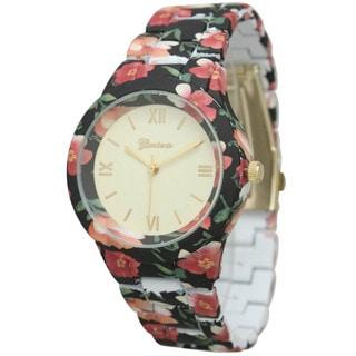 Olivia Pratt Women's Beautiful Colorful Flowery Watch