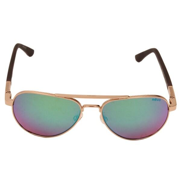 a6261f607d Shop Revo Raconteur Gold Frame Sunglasses with Green Water Serilium ...