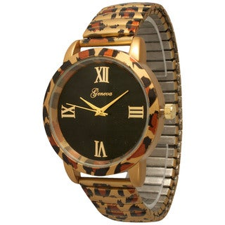 Olivia Pratt Women's Cheetah Stretch Band Watch