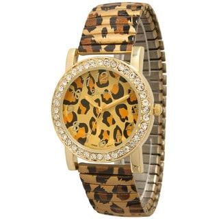 Olivia Pratt Women's Cheetah/Zebra Rhinestone Accented Watch