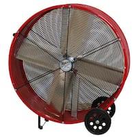 "Ventamatic BF30DDRED 30"" Red Direct Drive Barrel Fan"